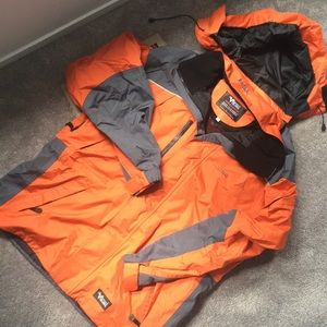 Viking Orange and Grey Tempest II Winter Jacket